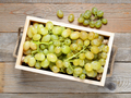 Grapes in wooden box top view - PhotoDune Item for Sale