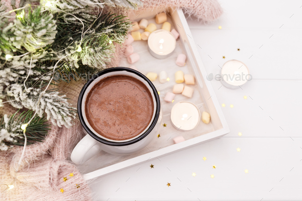 Cup of hot chocolate - Stock Photo - Images