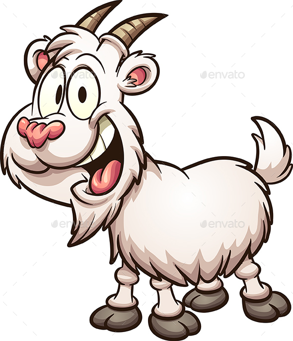 Happy Cartoon Goat - Animals Characters