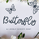 Free Download Butterfly - a Lovely Script Font Nulled