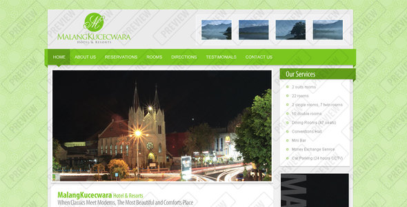 Malang Kucecwara, Hotel and Resort Template - Travel Retail