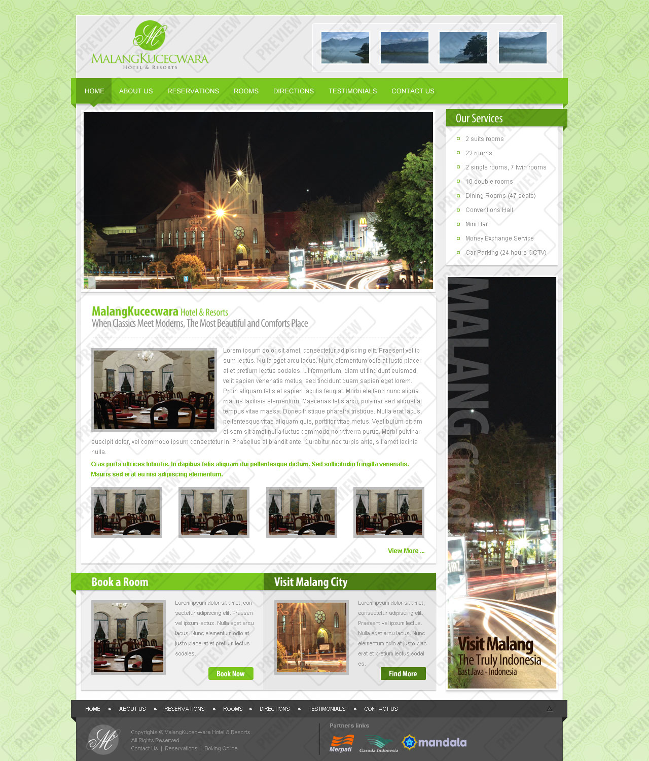 Free Download Malang Kucecwara, Hotel and Resort Template Nulled Latest Version