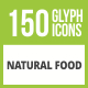Free Download 150 Natural Food Glyph Inverted Icons Nulled