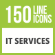 Free Download 150 IT Services Glyph Inverted Icons Nulled