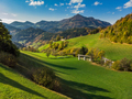 Rolling hills with pasture in rural Slovenia - PhotoDune Item for Sale