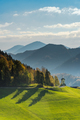 Green pasture and mountains, perfect road trip,Slovenia - PhotoDune Item for Sale
