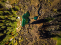 Colorful Zelenci natural reserve in Slovenia, aerial view in aut - PhotoDune Item for Sale