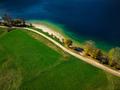 Vibrant colors of nature at Bohijn lake in Slovenia, drone view - PhotoDune Item for Sale