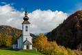 Sv. Marko chapel in Lower Danje, Slovenia at autumn colors - PhotoDune Item for Sale