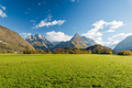 Vibrant green meadow and high Alps in Slovenia - PhotoDune Item for Sale