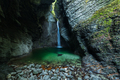 Waterfall Kozjak hidden in cave ,Slovenia - PhotoDune Item for Sale