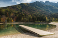 Picturesque Jasna lake at sunny autumn day,Slovenia - PhotoDune Item for Sale
