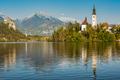 Colorful autumn at Lake Bled, SLovenia - PhotoDune Item for Sale