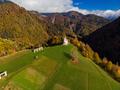 Sv. Marko chapel in Lower Danje, Slovenia , aerial drone view - PhotoDune Item for Sale