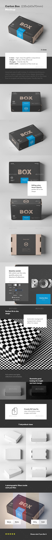 Carton Box Mock-up 235x160x70