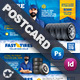 Auto Tires Postcard Templates - GraphicRiver Item for Sale