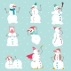 Snowmen Characters Set - GraphicRiver Item for Sale