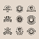 9 Vintage Baseball Emblems - GraphicRiver Item for Sale