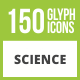 Free Download 150 Science Glyph Inverted Icons Nulled