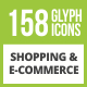Free Download 158 Shopping & E-Commerce Glyph Inverted Icons Nulled