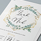 Geometric Eucalyptus Wedding Invitation - GraphicRiver Item for Sale