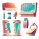 Vector Set of Futuristic Equipment for Hibernation - GraphicRiver Item for Sale