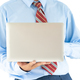Businessman holding a laptop with clipping path 9 - PhotoDune Item for Sale