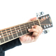 Hands playing guitar on white - PhotoDune Item for Sale