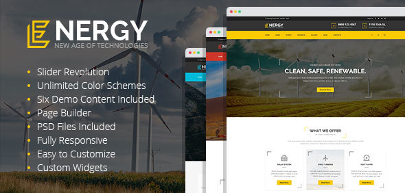 Energy - solar and alternative energy WordPress Theme - Technology WordPress