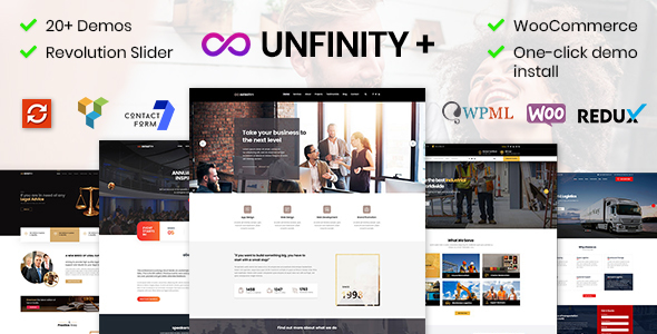 Unfinity Plus - Multipurpose One Page WordPress Theme - Business Corporate