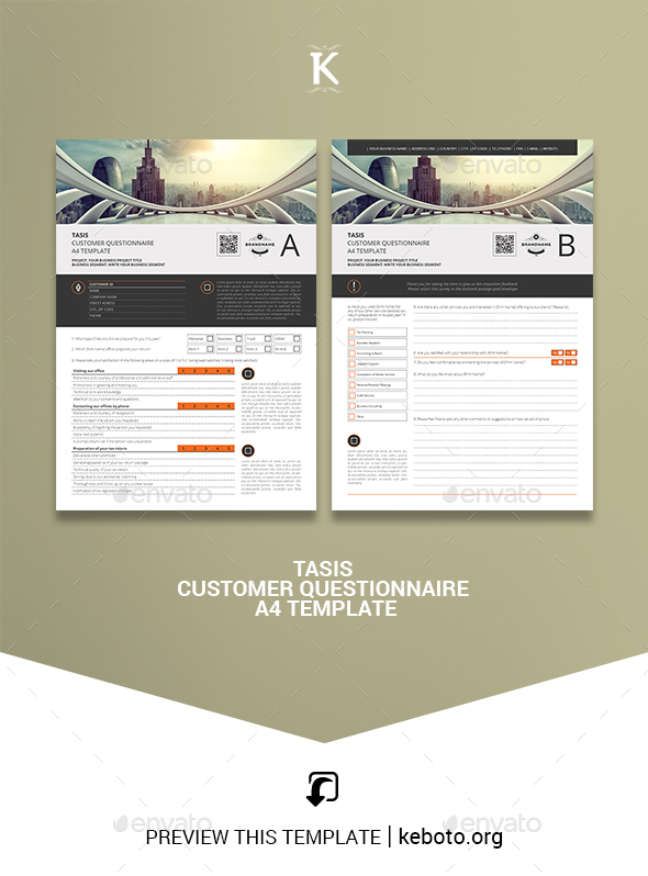 Tasis Customer Questionnaire A4 Template - Miscellaneous Print Templates
