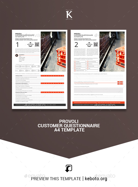 Provoli Customer Questionnaire A4 Template - Miscellaneous Print Templates