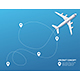 Plane and Track Aircraft Concept Banner Card - GraphicRiver Item for Sale
