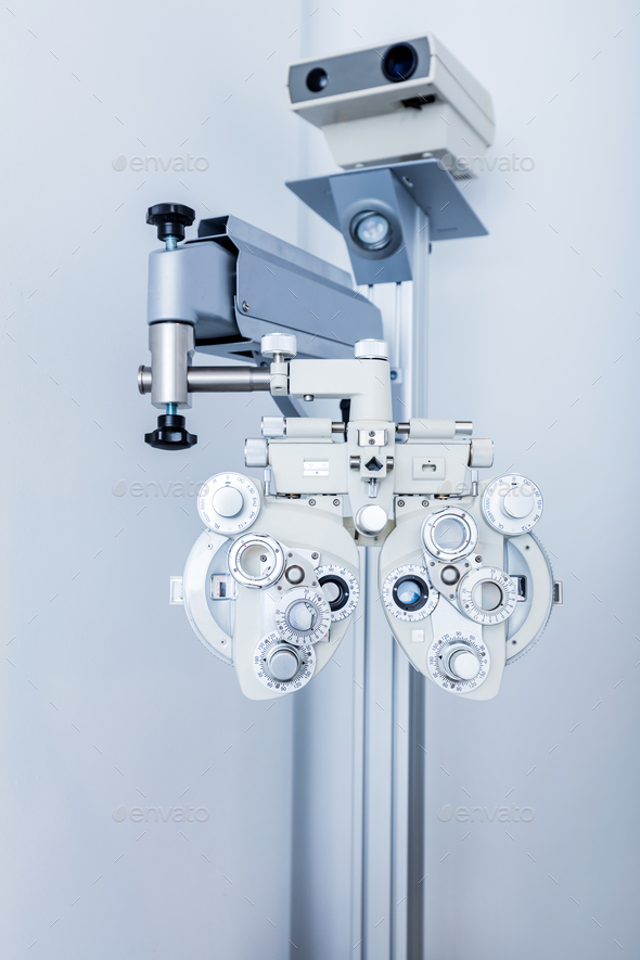 Ophthalmology equipment in doctor's office. - Stock Photo - Images