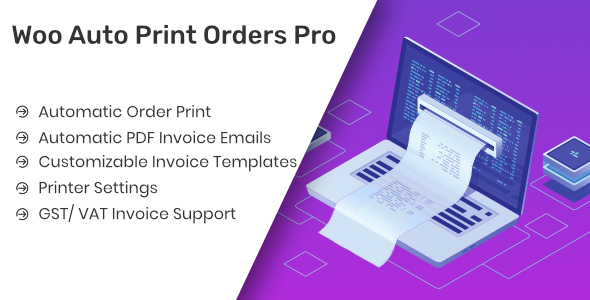 Woo Auto Print Orders Pro            Nulled