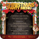 Free Download Christmas Menu Template Nulled