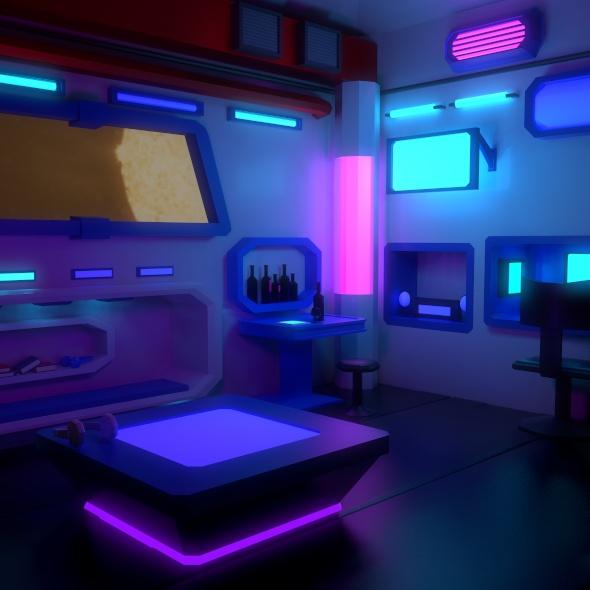 Cyberpunk Room - 3DOcean Item for Sale