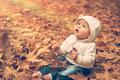Baby boy enjoying autumn - PhotoDune Item for Sale