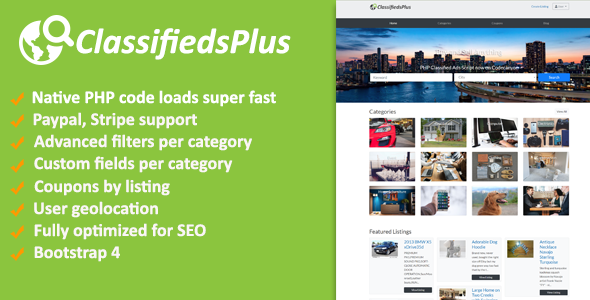 ClassifiedsPlus - Classified Ads CMS - CodeCanyon Item for Sale