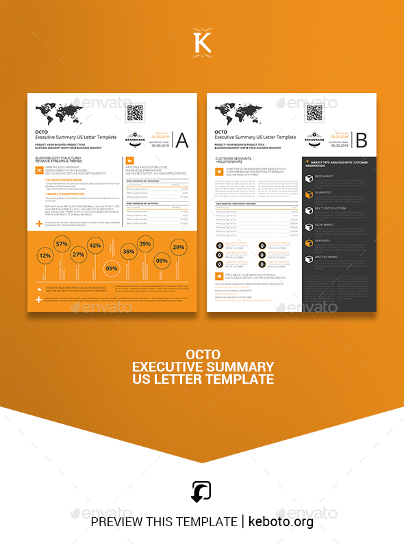 Octo Executive Summary US Letter Template - Miscellaneous Print Templates