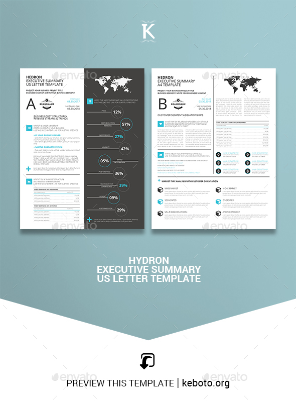 Hedron Executive Summary US Letter Template - Miscellaneous Print Templates