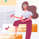 Young Woman Silhouette with To Do List - GraphicRiver Item for Sale