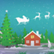 Santa's Ride Papercut Greetings - VideoHive Item for Sale
