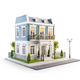 Unusual 3d illustration of a beautiful house with - PhotoDune Item for Sale