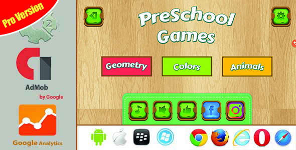 PreSchool Games Pro Version - Construct2 HTML5 With Admob            Nulled