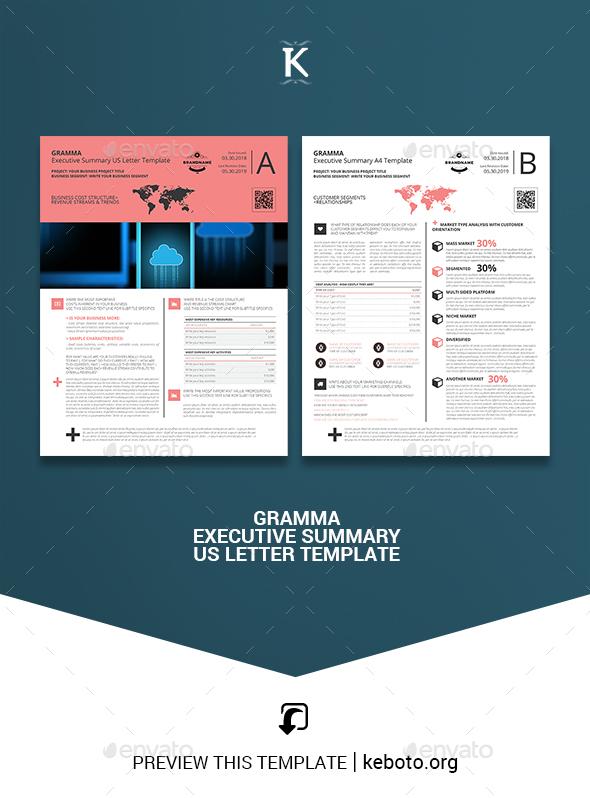 Gramma Executive Summary US Letter Template - Miscellaneous Print Templates
