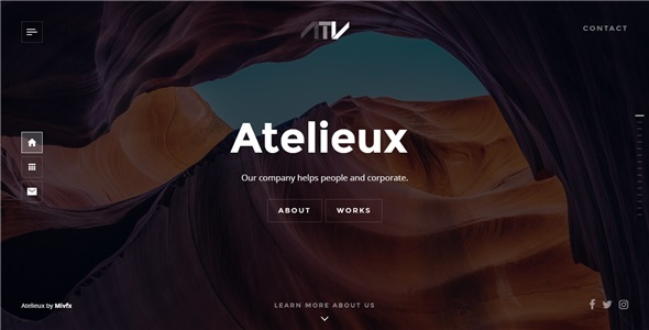 Atelieux - Fullscreen Portfolio Website Template