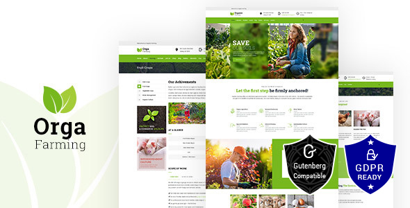 Download Orga Farm – Organic Food, Organic Farm WordPress Theme nulled orga
