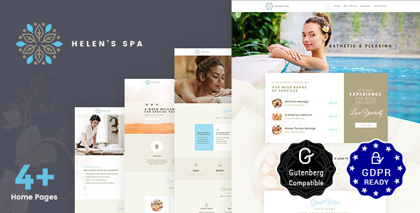 Helen's Spa - Beauty Spa, Health Spa & Wellness Theme Free Download | Nulled