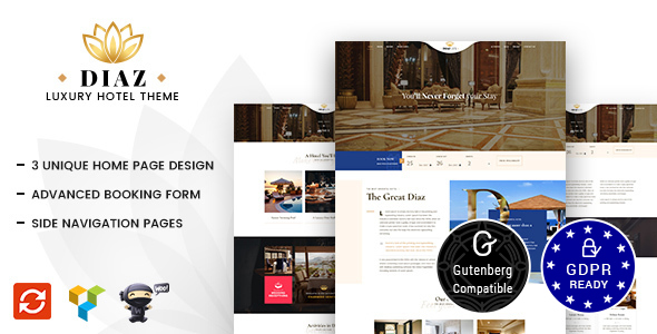 Hotel Diaz - Hotel Booking Theme - Travel Retail